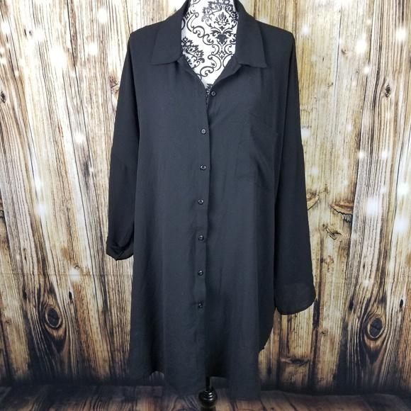 52a345699839 Boohoo Plus Tops - NWOT BooHoo Plus Size 20 Black Oversized Shirt